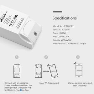 Image 2 - รีโมทคอนโทรลเปิด/ปิดสมาร์ทสวิทช์ Sonoff POW R2 16A WIFI สมาร์ทหน้าแรกสวิทช์การตรวจสอบพลังงานป้องกันการโอเวอร์โหลด 35MR21