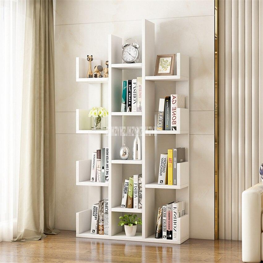A-01 Simple Modern Bookcase Living Room Furniture Creative Land Wooden Storage Display Cabinet Bedroom Children Wooden Bookshelf