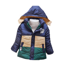 New 2016 Kids Toddler Boys Jacket Coat Hooded Jackets For Children Outerwear Clothing Winter Warm Baby Boy Clothes