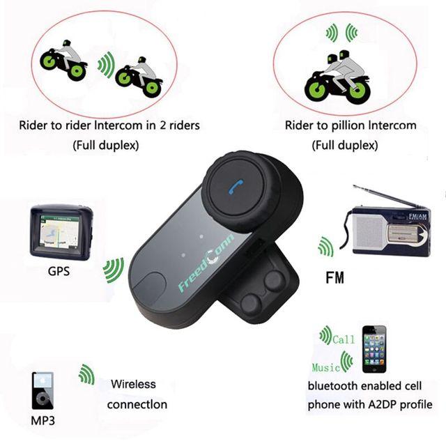 3 unids/lote Cascos De Esquí Casco de La Motocicleta Intercom Headset Bluetooth BT FM Raido Talkie Kits