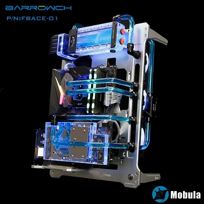 Barrowch silver Mobula modular computer case verticle compatible E ATX/ATX/M ATX/ITX MINI DESIGN Aluminum material gpu block