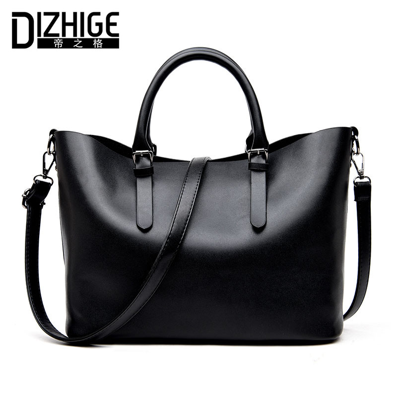 DIZHIGE Brand Fashion Black Women Bag Designer Handbags High Quality PU Leather Bags Women Shoulder Bag Ladies Handbags 2017 New dizhige brand fashion black women bag designer handbags high quality pu leather bags women shoulder bag ladies handbags 2017 new