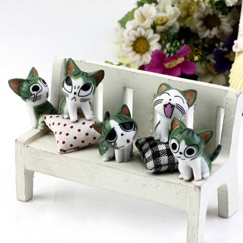 Gatos Ornamento Do Jardim Estatueta De Fadas Casa De Bonecas em miniatura Micro Paisagem Decoração