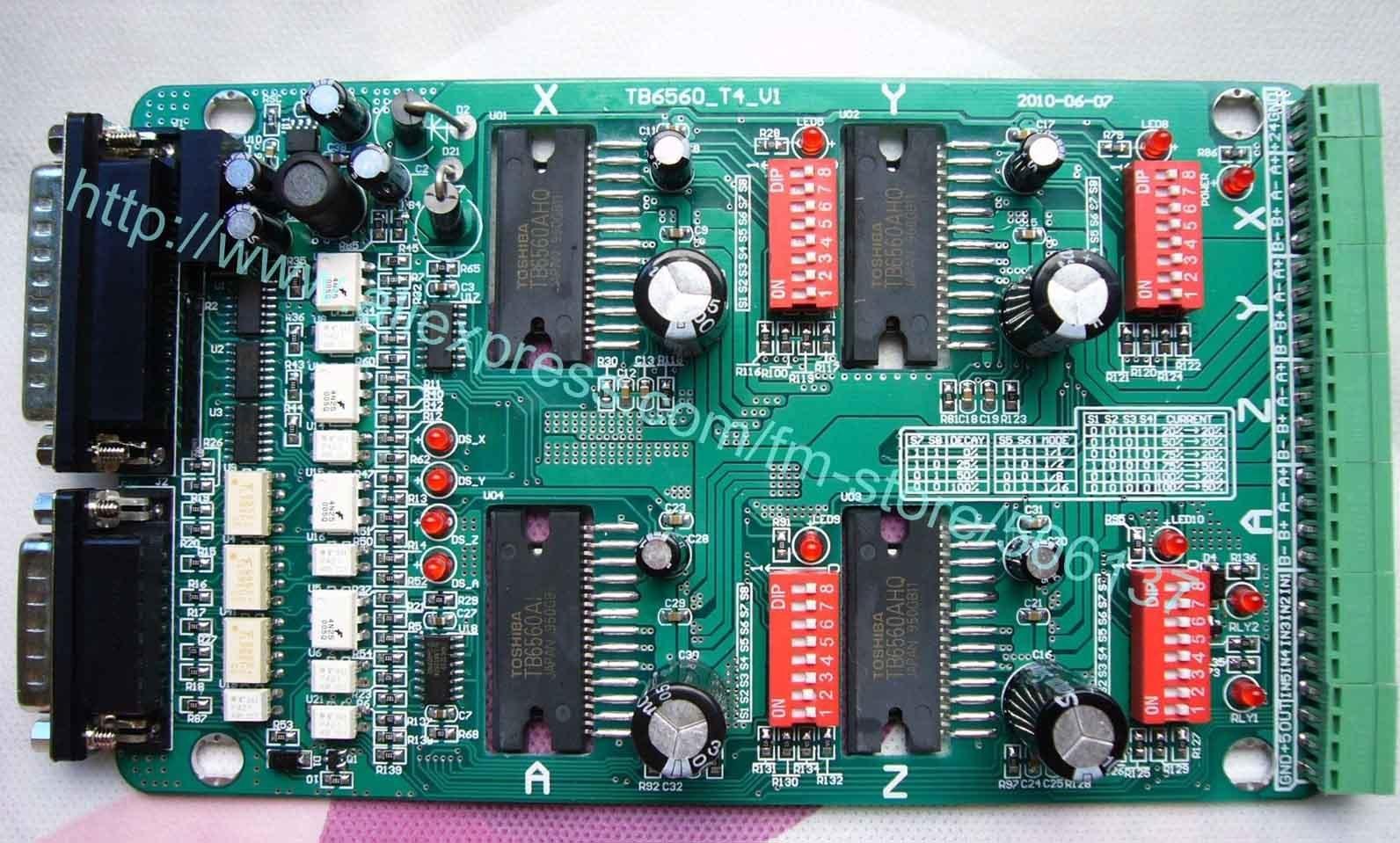 4 Axis TB6560 3.5A Stepper Motor Driver M335-4T,TB6560-T4 CNC Driver,4 axis stepper motor driver hot tb6560ahq ic tb6560 stepper driver toshiba chip sm003 cf