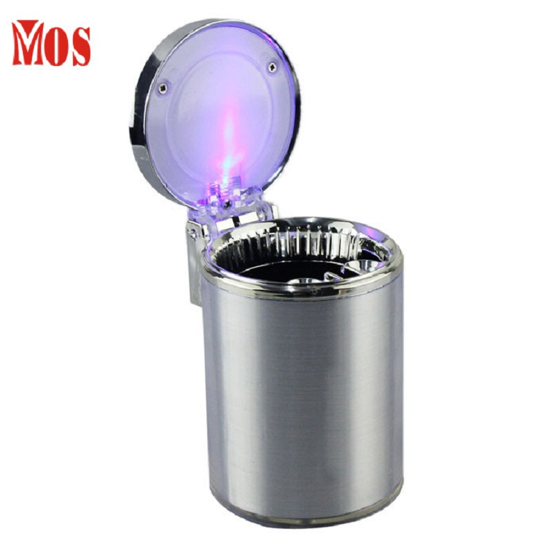 New Qualified 2017 Hot Selling Movable Ashtray Car LED Light Ashtray Auto Travel Cigarette Ash Holder Cup Dropship D45SE12A
