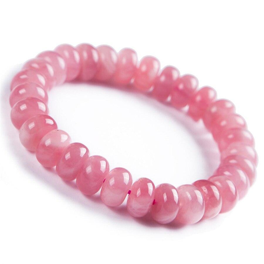 Bracelet en perles de cristal Rose naturel Madagascar Marquise 12mm AAA