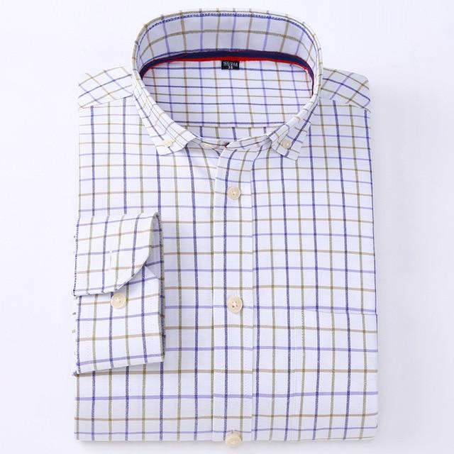 Yibin 2016 new men's long-sleeved oxford shirt men's casual shirts men wholesale