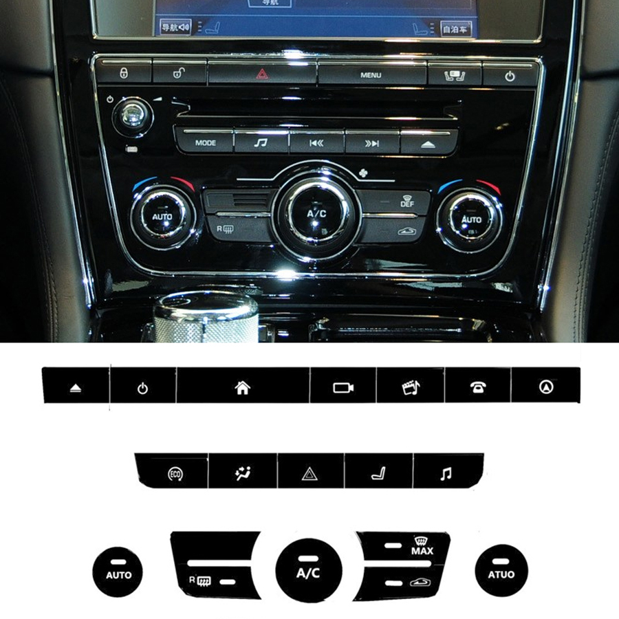 2019 Fashion Car Accessories For Jaguar XJ Center Console Button Sticker