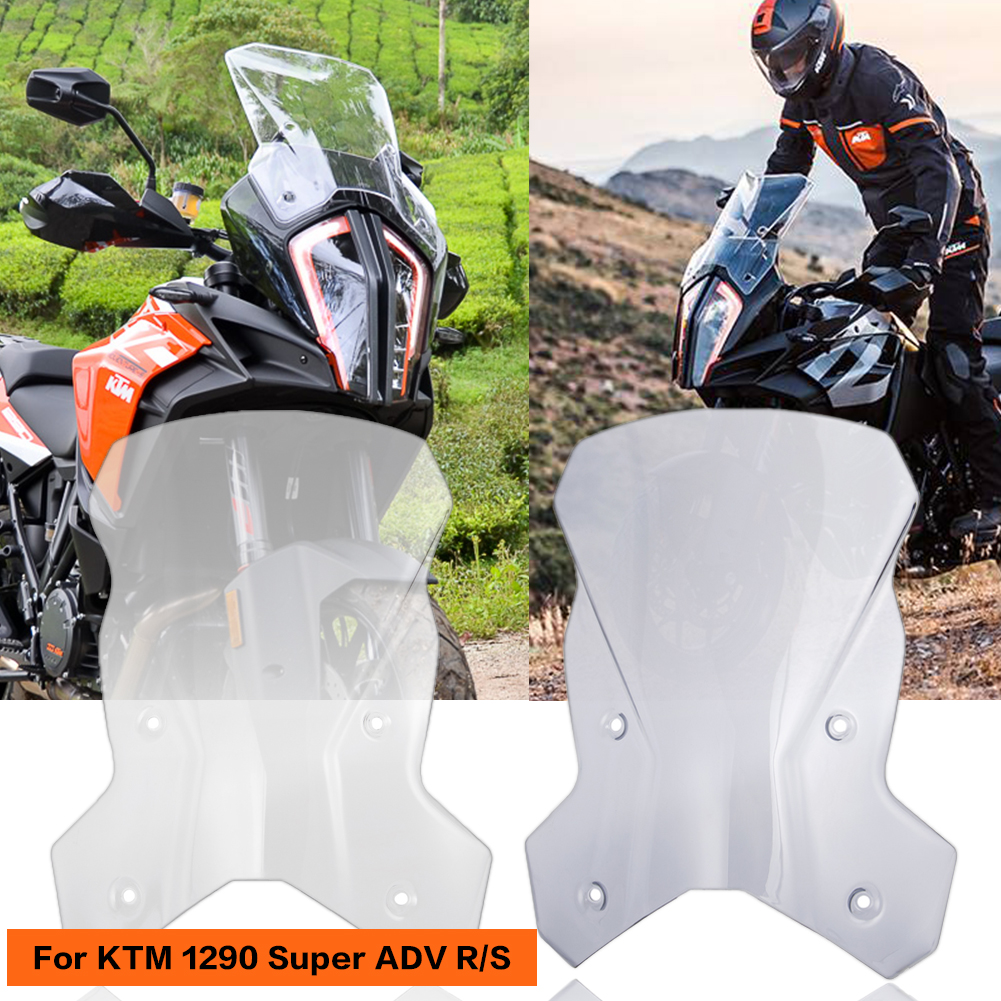 For <font><b>KTM</b></font> <font><b>1290</b></font> <font><b>Super</b></font> <font><b>Adventure</b></font> R/<font><b>S</b></font> 1290ADV 2017 2018 <font><b>2019</b></font> Motorbike Windscreen Windshield Shield Screen With Mounting Bracket image