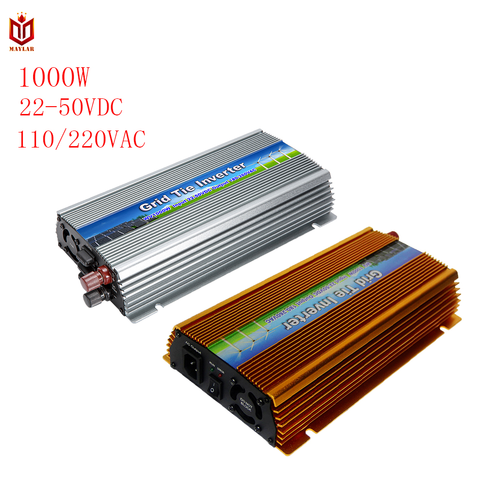 22-50 v/10.5-30VDC 1000 w Solaire Grille Cravate Onduleur Transformateur de Tension avec La Fonction de MPPT Pour maison Système PV Sortie 120-220VAC