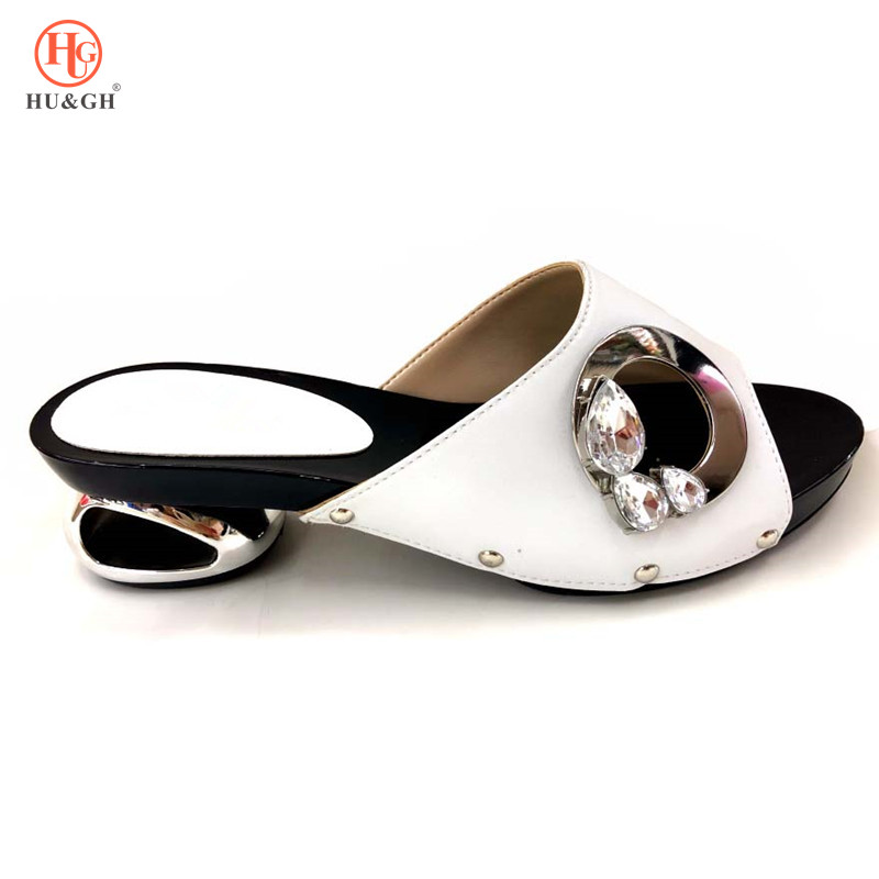 Latest Fashion Womens Dress Shoes Open Toe Ladies Sandals with Heels Green African Women Wedding Shoes Decorated with Rhinestone-in Women's Pumps from Shoes    3