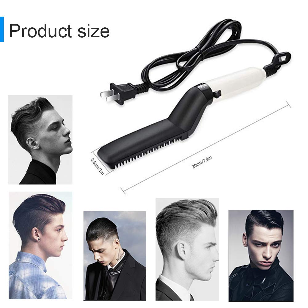 men Beard Hair Straightener Brush (8)