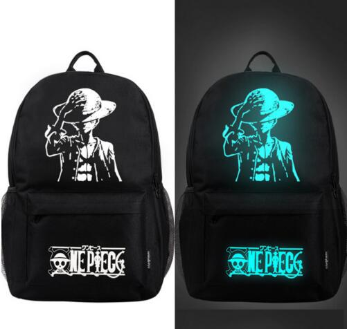 Nightlight One Piece Casual Men's Backpack Anime Luminous Teenagers Men Women's Student Cartoon School Bags