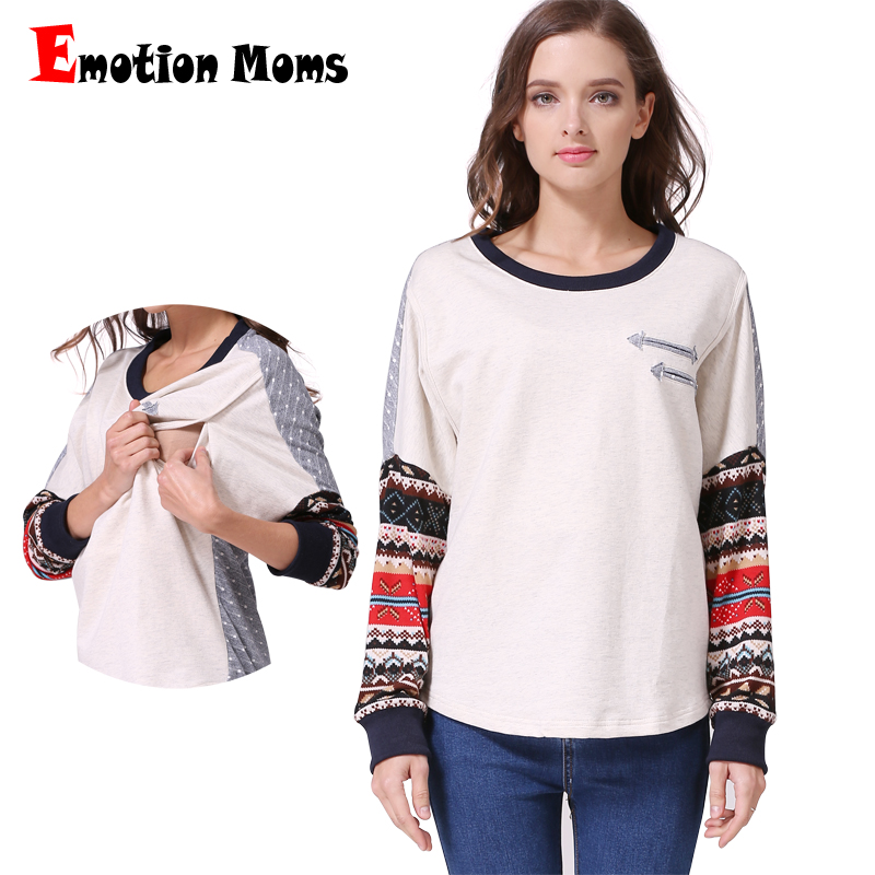 Emotion Moms Long Sleeve Maternity clothes Nursing Clothing Cotton Maternity tops Breastfeeding T-shirt For Pregnant WomenEmotion Moms Long Sleeve Maternity clothes Nursing Clothing Cotton Maternity tops Breastfeeding T-shirt For Pregnant Women