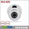 Reolink RLC-420 4MP Câmera De Segurança POE Dome Ao Ar Livre com a Noite visão 100 Pés/Fácil Instalação Suporte de Smartphones e Web vista