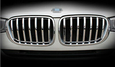 ABS Chrome Front Center Grille Cover Trim 2pcs For <font><b>BMW</b></font> <font><b>X4</b></font> F26 2014 <font><b>2015</b></font> 2016 image