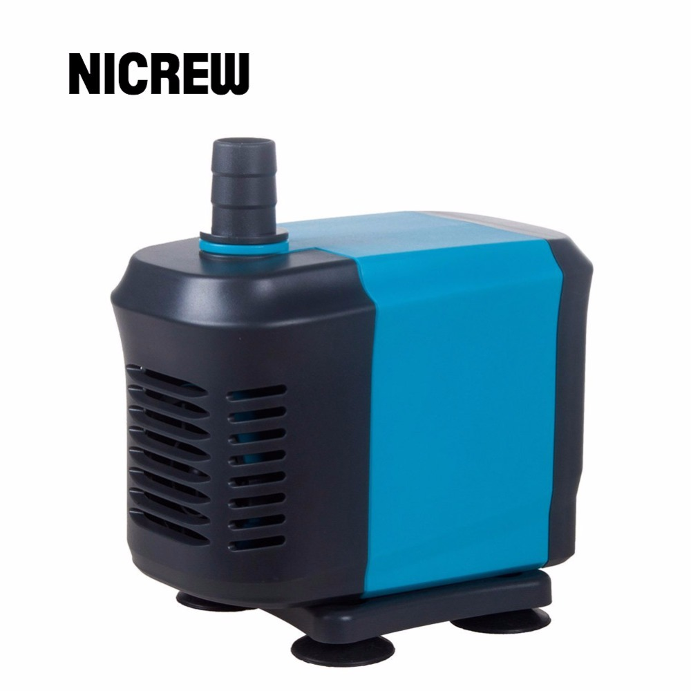 Nicrew 20 40 55w submersible water circulating pump fish for Fish tank water pump