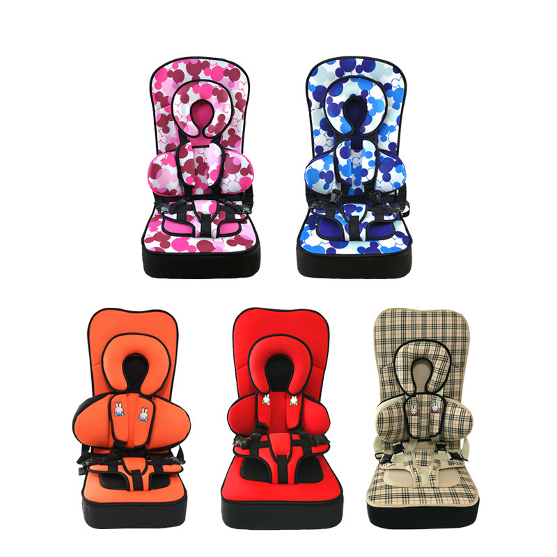 5 Color Thicken Type Baby Toddler Safety Car Seats for 2~12Y Children Portable Kids Chair Booster Cushion Child Car Protect Seat baby car seat isofix infant safety toddler portable baby car seats booster child safety car seat baby seggiolini per auto