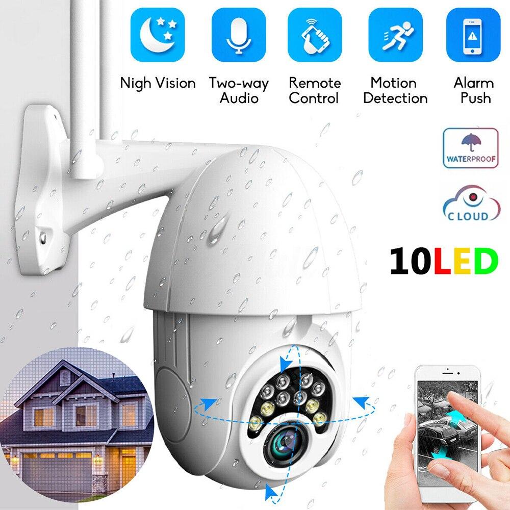 10 LED-Full-farbe Nachtsicht HD 1080 P 2MP PTZ Drahtlose WiFi IP Kamera Im Freien Wasserdichte 200 W pixel Überwachung Kamera