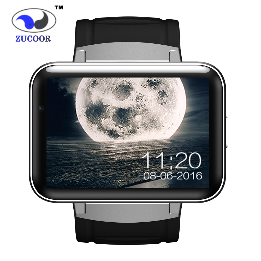 ZUCOOR Smart Watch Android DM98 GPS Tracker /GSM/WCDMA/WiFi Wristwatch 2.2 inch Big Touchscreen Anti-lost Bluetooth Mp3 Player new kid gps smart watch wristwatch sos call location device tracker for kids safe anti lost monitor q60 child watchphone gift