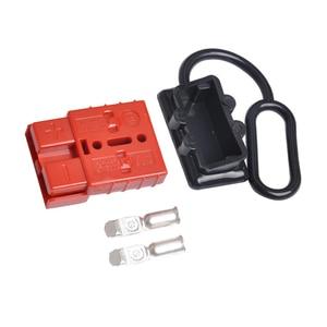 Image 2 - O cabo da bateria de 50a 600 v conecta rapidamente o jogo 12 24 v do conector do guincho da recuperação da desconexão da tomada do chicote de fios do fio