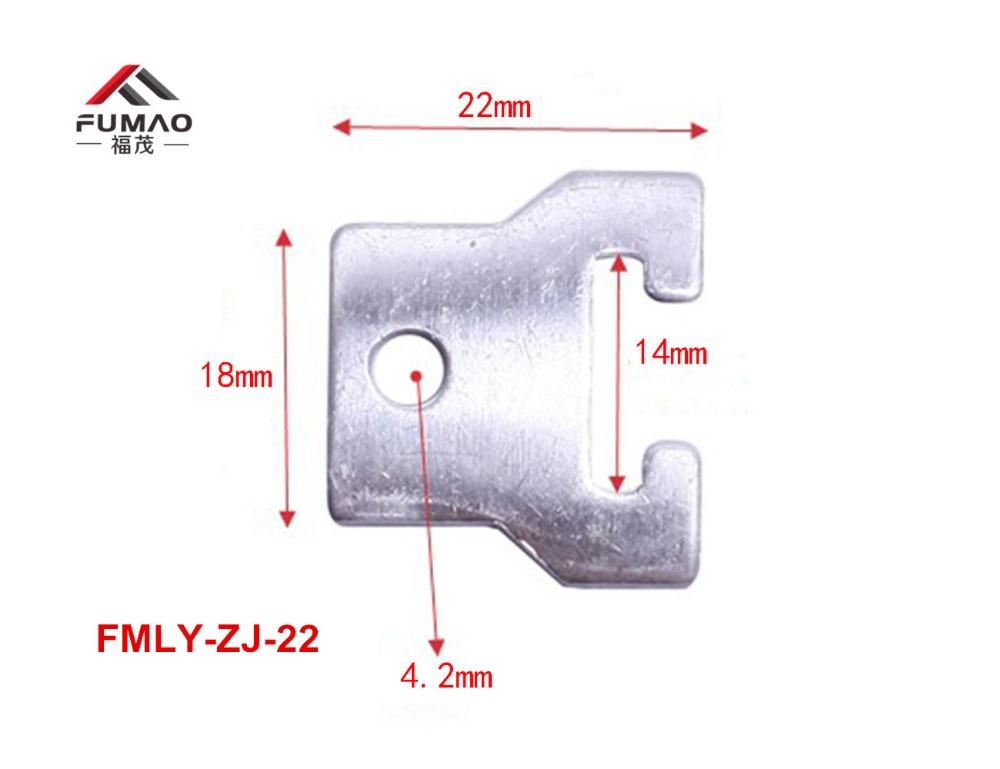 Купить с кэшбэком Manufacture nickel plating ceiling light clip for flat spring clip downlights