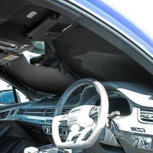 Image 3 - Parabrezza dellautomobile Anteriore Posteriore Parasole Copertura Auto Riflettente Parabrezza Parasole Pieghevole Parasole UV Cieco Visiera Protezione