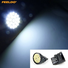 FEELDO 2 pcs Branco 3156 T25 22LED 1206SMD Cauda Brake Turn Signal LED Car Light Bulbs
