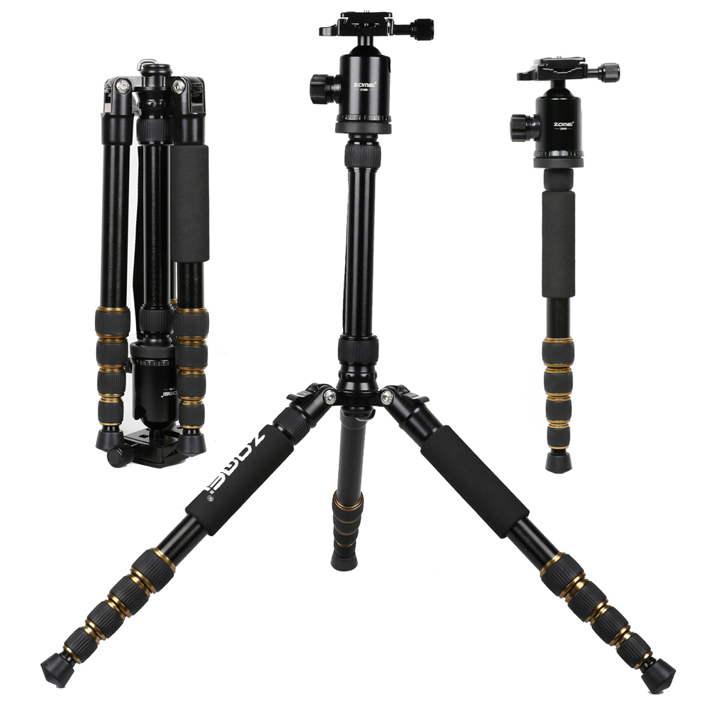 Zomei Z699 Professional Portable Camera Tripod With Ball Head Monopod For Phone DSLR Photography Travel Photo