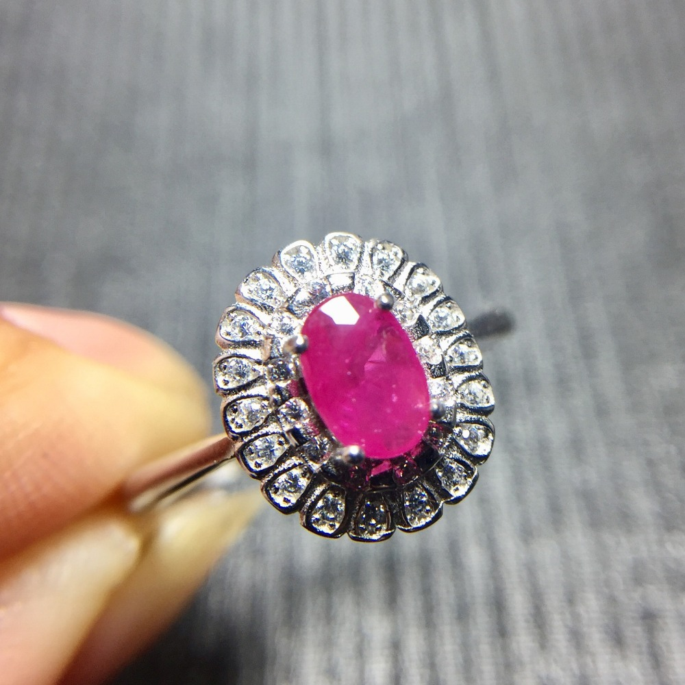 Real ruby ring Free shipping Natural real ruby 925 sterling silver Finger rings ...