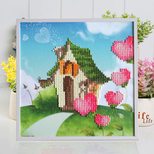 Free Shipping Cartoon House Puzzle Resin 3D DIY Sticker Learning Education Toys Puzzle For Children Jigsaws Gift 20*20 NT139