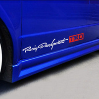 TRD Racing Development Door Sticker Car Body Side Stickers For Toyota Corolla Avensis Auris Rav4 Yaris