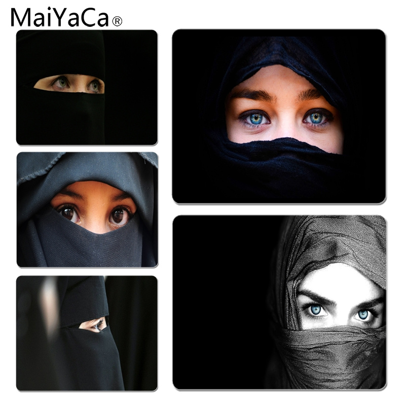MaiYaCa Hot Sales Arab Woman With Niqab DIY Design Pattern Game mousepad Size for 180x220x2mm and 250x290x2mm Rubber Mousemats