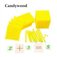 Cheapest prices Professional Montessori Math Materials-Base Ten System&Digital Cards Beads Toys Kids Educational Toys Matematicas Juguetes
