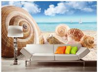 Customized 3d Wallpaper 3d Wall Murals Wallpaper Hd 3 D Starfish On The Beach Conch TV