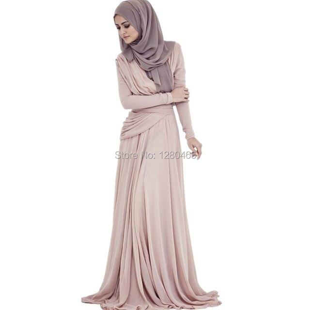 4c6487275 2015 Arabic Hijab Evening Dresses Long Sleeves Muslim Prom Dresses Vestidos  Largos para Bodas