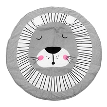 90CM Kids Play Game Mats Round Carpet Rugs Mat Cotton Crawling Blanket Floor For Room Decoration INS Baby Gifts li