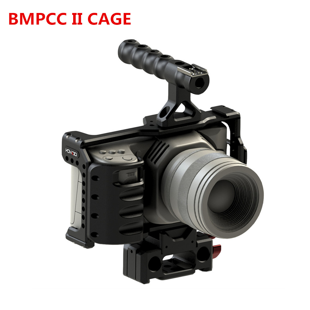 Image 5 - HONTOO BMD BMPCC 4K Cage Rig DSLR RIG Cage Baseplate Top Handle  15mm camera rig FOR BlackMagic Pocket Cinema Camera 4K-in Photo Studio Accessories from Consumer Electronics
