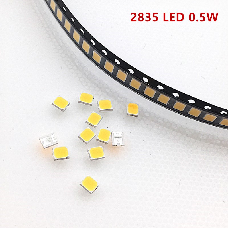 100pcs/lot <font><b>led</b></font> 0.5w 55-65 lm smd <font><b>2835</b></font> Gold wire chip lamp emitting diode for light strip par tube lighting 3000K 4000K 6000K image