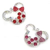 20/50pcs Wholesale Pretty Fancy Rhinestone bowknot cute mickey chunky pendant/charm for Diy necklace