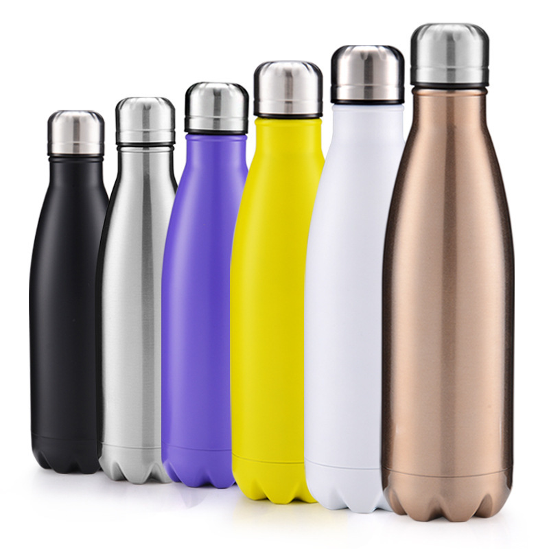 500ml Double Wall Insulated Vacuum Flask Stainless Steel Water Bottle Cola Water Beer Thermos for Sport Bottle Dropshipping in Vacuum Flasks Thermoses from Home Garden