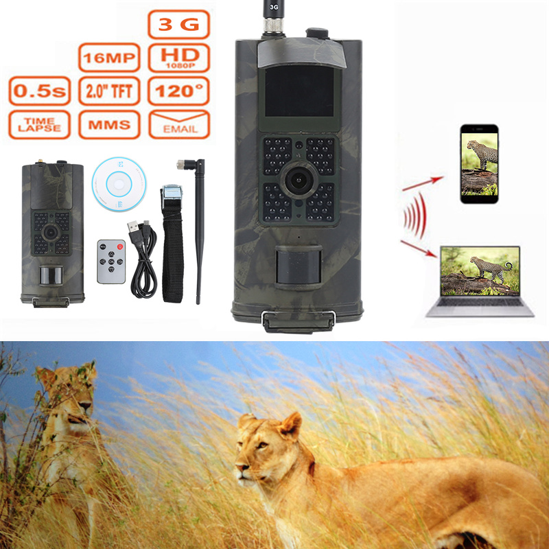 Skatolly HC-700G Full HD 16MP 1080P scout chasse Hunting Trail Camera Video Night Vision 3G MMS GPRS Scouting Game+Free shipping free shipping ip56 waterproof mms gprs night vision trail game hunting camera 0 2s shooting time three sensors cam