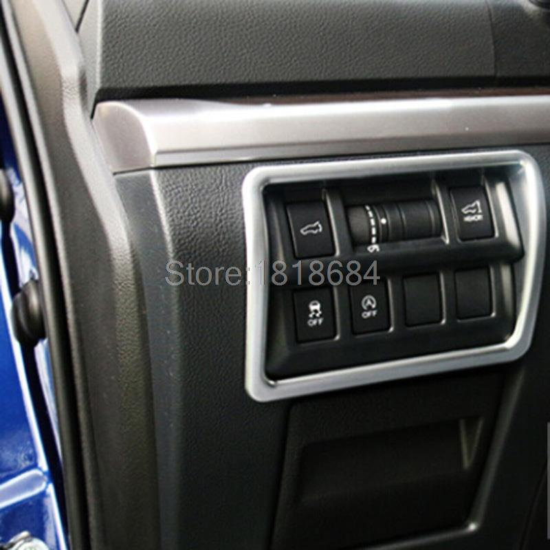 For Subaru Outback 2015 2016 ABS Chrome Multiple Button Matte Frame Cover Inner Door Window Switch Panel Trim Auto Parts 1pc/set