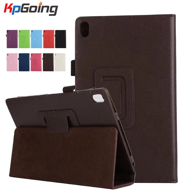 KpGoing Litchi Flip Stand Case For Lenovo TAB4 8 Plus PU Leather Case for Lenovo TAB 4 8 Plus TB-8704F TB-8704N Tablet Case new design high quality pu leather sleeve bag case for lenovo tab4 8 plus tb 8704f tb 8704n tablet pouch stand cover