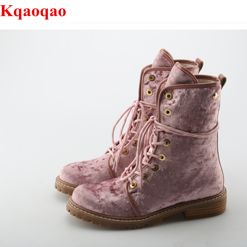 Front Lace Up Butterfly Knot Women Boots Round Toe Suede Shoes Low Heel Short Booties Luxury Brand Super Star Chaussures Femmes round toe women boots short booties luxury brand designer super star runway shoes chaussures femmes front lace up shoes flats