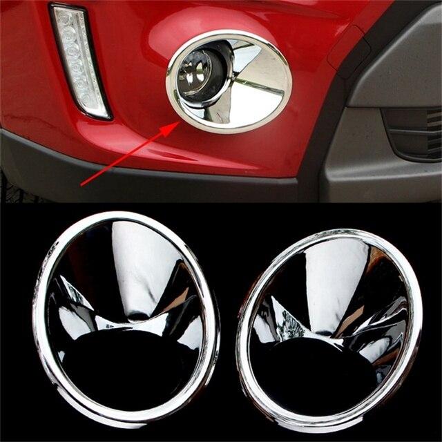 Abaiwai ABS Chrome For Suzuki Vitara Escudo 2015 2016 Car Exterior Front  Fog Light Lamp Cover Frame Foglight Trim Car Styling