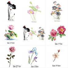 Buy Hot New Fashion Flower Iron On Patches Stickers Washable Appliques A-level Heat Transfer For DIY Accessory Clothing m35 directly from merchant!