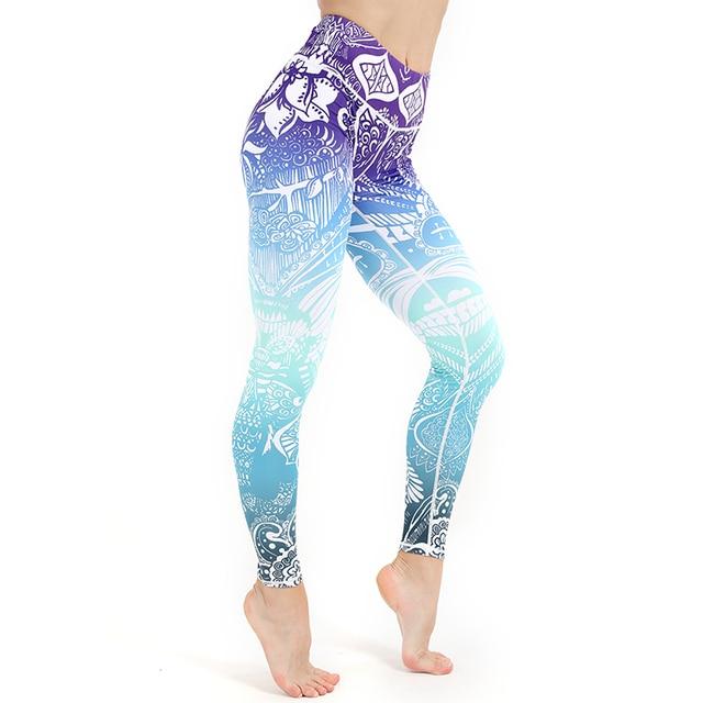 Autumn Women Legging Mandala Flower Print Workout Pants Sexy High Waist Push Up Legins Woman Pants Stretch Leggings Plus Size