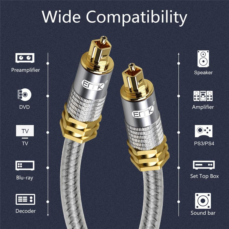 9 Top Grade OD8.0mm Spdif Optical Cable Gold Connector Digital Fiber Optical Toslink Audio cable 1m 1.5m 2m 3m 5m (7)