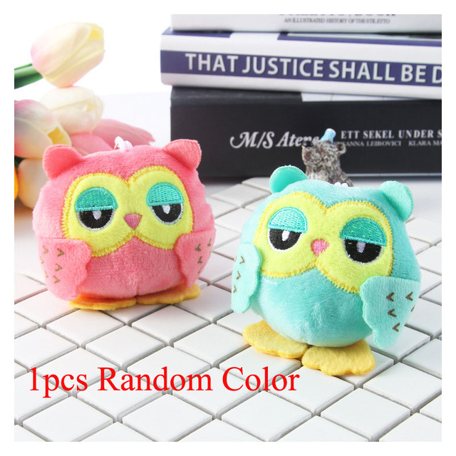 Cute Plush Toys for Girls Stuffed Animals Owl Baby Doll with Keychain Pendant Toy Kids Party Gift Plush Toys